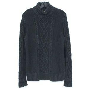 3/$20 Eddie Bauer Sweater Turtleneck Gray Large G2